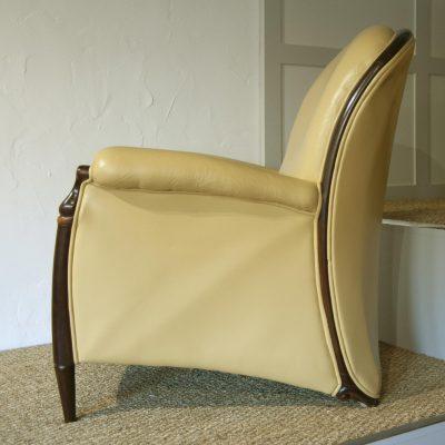 Gino & Sophia Leather Italian Arm Chairs