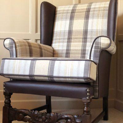 Kirk Leather Tartan Chair