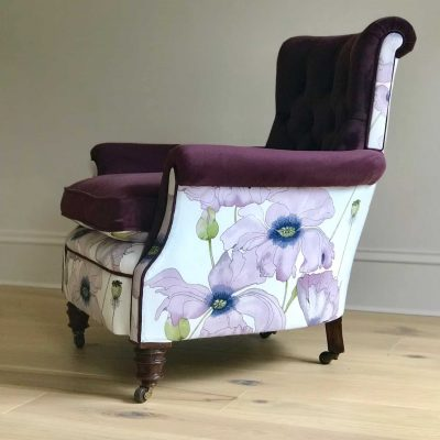 Ruby Victorian Button Back Chair
