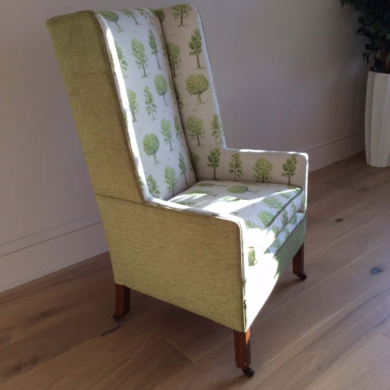 Forever Green Wingback Chair Vintage Chairs Reimagined