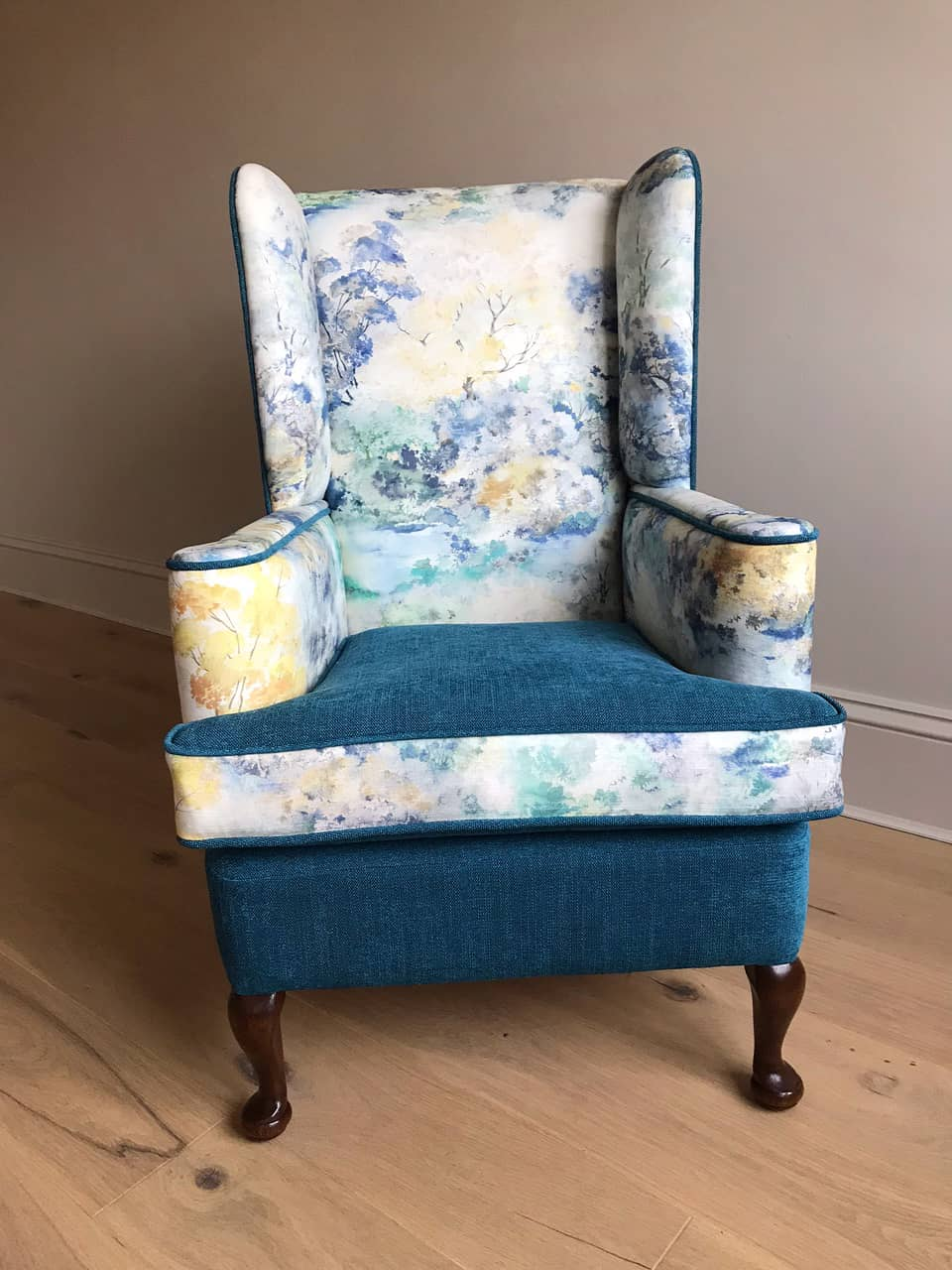 Eleanor High Wingback Chair Vintage Chairs Reimagined